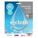 E-cloth šluosčių rinkinys nerūdijančio plieno paviršiams, 2 vnt.