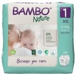 Sauskelnės vaikams BAMBO NATURE 1, 2-4 kg