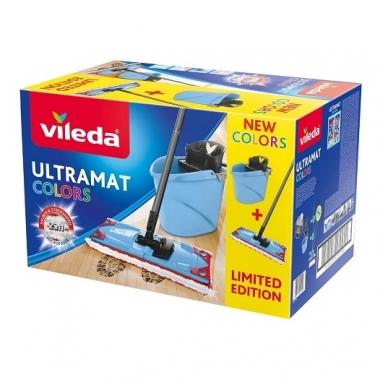 Valymo rinkinys VILEDA ULTRAMAX BLUE COLOR 4