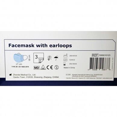 Medicininės vienkartinės veido kaukės IIR ABENA, 50 vnt. 3