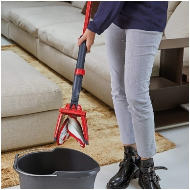 VILEDA grindų šepetys Twist & Go su nugręžimo mechanizmu 5